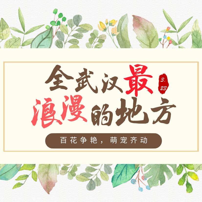 3.23全武汉最浪漫的地方等你来撩!